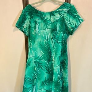 VINTAGE Hawaiian Tropical Long Dress